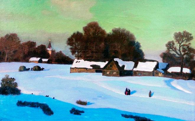 Сочинение по картине Крымова «Зимний вечер»