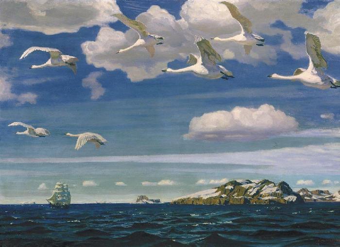 Сочинение по картине А. А. Рылова «В голубом просторе»