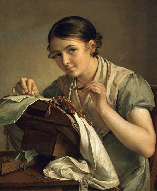 Сочинение по картине В. А. Тропинина «Кружевница»