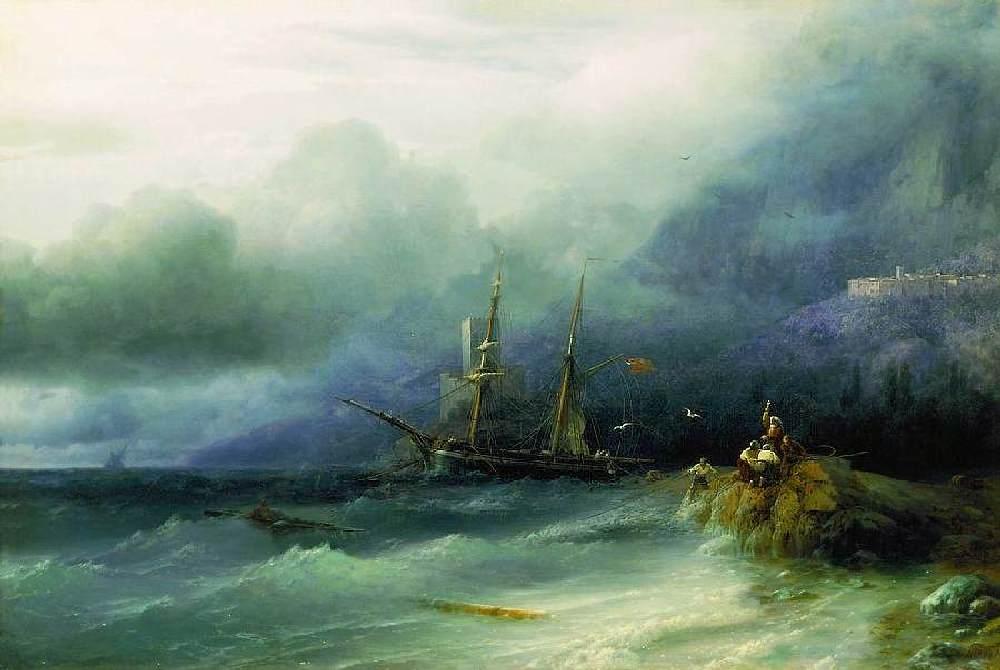 """Картина Айвазовского """"Буря"""""""