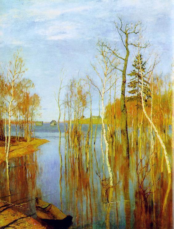 Левитан - Весна. Большая вода.