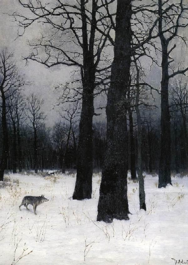 Левитан - Зимой в лесу.