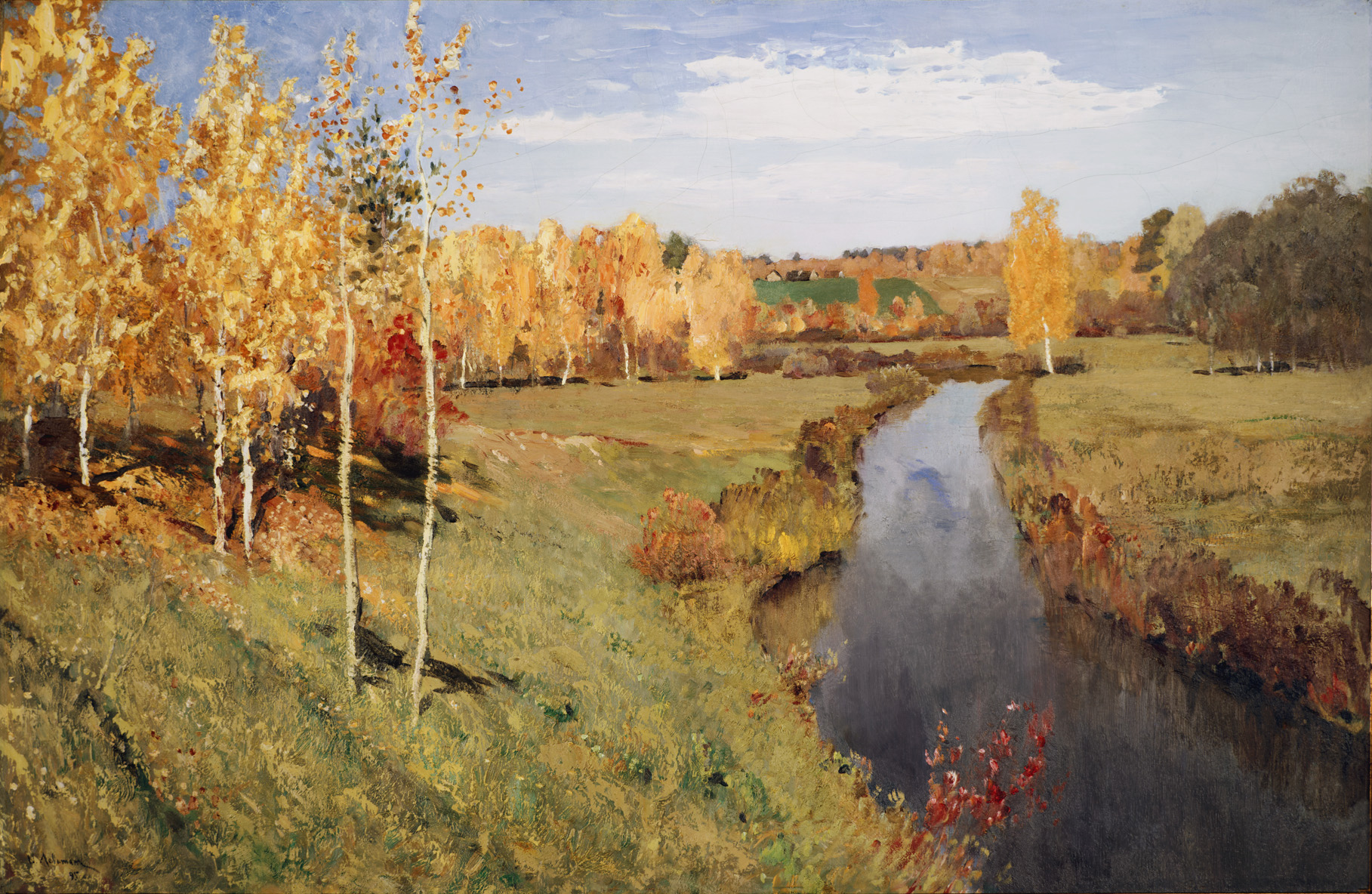 Сочинение по картине Левитана «Золотая осень».