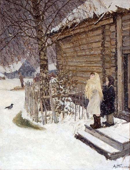 сочинение учеников по картине и попова первый снег