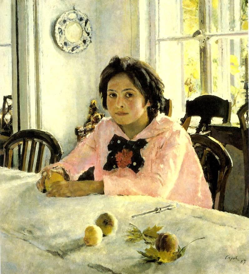 """Сочинение по картине Серова """"Девочка с персиками""""."""