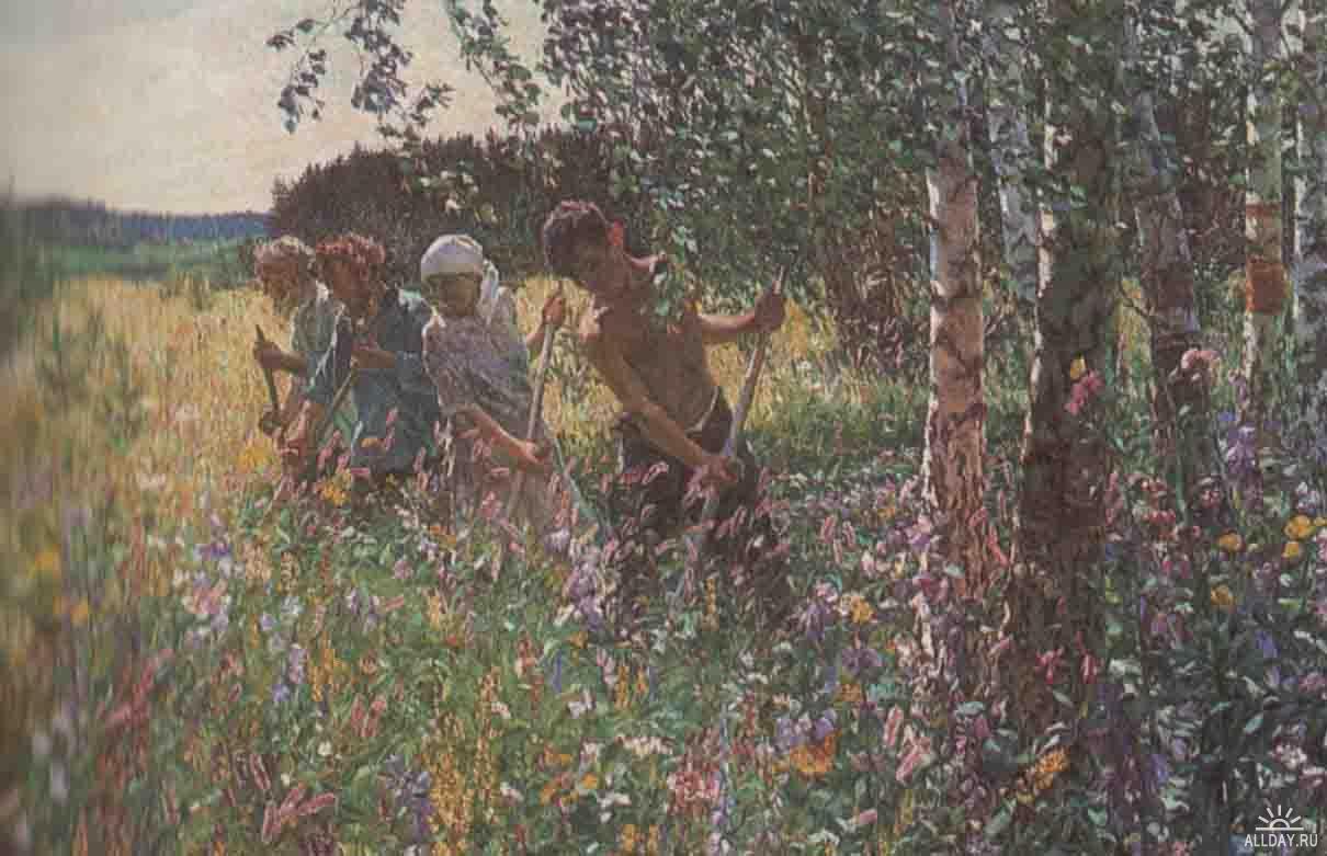 сочинение картине сенокос