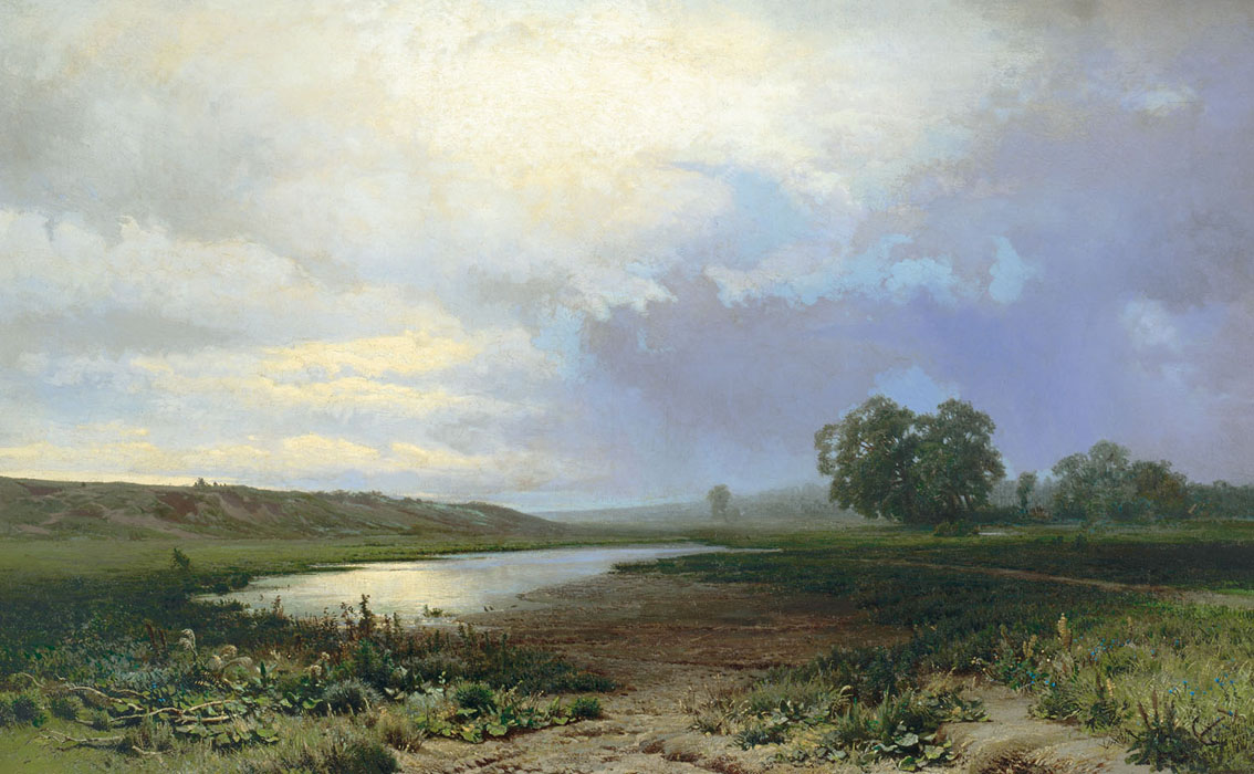 Сочинение по картине Васильева «Мокрый луг»